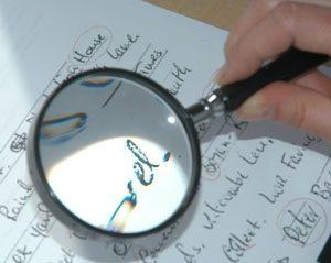 Почерковедческая экспертиза образец